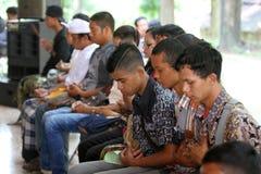 Hindus祈祷 免版税库存照片