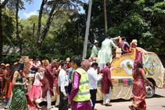 Hindus celebration in Kenya Royalty Free Stock Image
