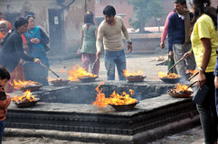 Preghiera di Hindus Fotografia Stock Libera da Diritti