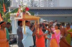 Hindus de Mauricio celebra a Ganesh Chaturthi Imagen de archivo