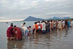 Hindus de Mauricio celebra a Ganesh Chaturti Imagen de archivo libre de regalías