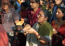 Hindus de Mauricio que celebra a Ganesh Chaturthi Foto de archivo libre de regalías