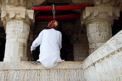 The hindus in Jagdish Temple of Udaipur Royalty Free Stock Images