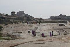 Hindus korowodu ludzie Hampi, India Zdjęcie Royalty Free