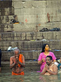 Hindus perform ritual puja Stock Photo