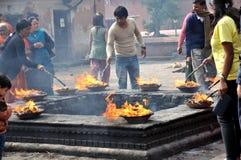 Hindus Praying Royalty Free Stock Photo