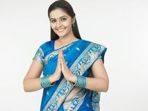 hindusa powitanie obraz royalty free