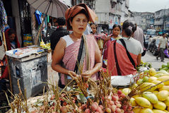 hindusa rynek Zdjęcie Royalty Free