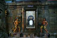 hinduscy ind wśrodku Madurai meenakshi świątyni fotografia royalty free
