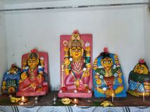 Hinduscy wioska bogowie fotografia stock