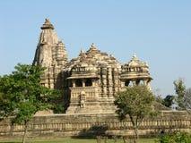 hinduska świątynia khajur pradawnych Fotografia Royalty Free