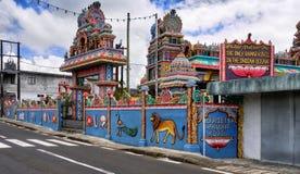Hinduska świątynia, Mauritius wyspa obraz stock