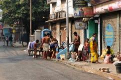 Hinduska łazienka na ulicie Obrazy Royalty Free