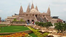 Hinduska bóg świątynia z flower& trawy projektami Zdjęcia Stock