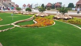 Hinduska bóg świątynia z flower& trawy projektami Zdjęcia Royalty Free