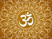 Hinduska om ikona ilustracja wektor