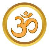 Hinduska Om symbolu wektoru ikona Zdjęcie Royalty Free