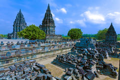hinduska prambanan świątynia fotografia royalty free