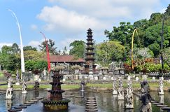 Hinduski balijczyk wody pałac Tirta Gangga, Bali wyspa, Indonezja obraz royalty free