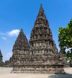 hinduski Indonesia Java prambanan świątynny Yogyakarta obrazy royalty free