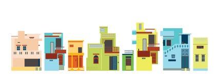 Hinduski miastowy architektoniczny styl Zdjęcia Stock