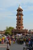 Hinduski nowego roku festiwal, Zegarowy wierza, Jodhpur, Ind Obraz Royalty Free