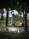 Hinduski religijny idol pod drzewem Obraz Stock