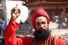 hinduski target1690_0_ mężczyzna Obraz Royalty Free