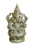 Hinduskiego bóstwa Ganesha statua odosobniony Obrazy Royalty Free