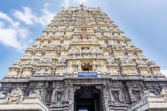 Hinduskiej świątyni gopuram Kanchipuram India Obraz Royalty Free