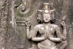 hinduskiej podzielić świątyni mur. Zdjęcia Stock