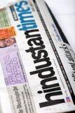 Hindustan mide el tiempo del periódico Imagen de archivo libre de regalías