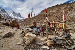 Hindy świątynia w świętym miejscu w himalaje obraz royalty free