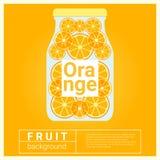 Hineingegossenes Wasserfruchtrezept mit Orange Lizenzfreie Stockfotos
