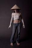 hinese dziewczyna kapelusz Fotografia Royalty Free