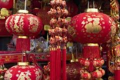 Hinese uroka lampion dla dekoracji podczas Chińskiego nowego roku obrazy stock