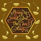 Hiney сладостно но жала пчелы бесплатная иллюстрация