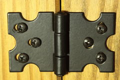 Hinge. Photograph of a hinge on a sideboard Stock Photos