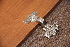 Hinge. Internal hinge for a door Royalty Free Stock Photos