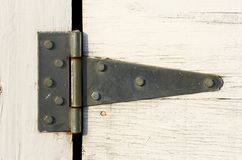 Hinge. A close up picture of hinge on door Royalty Free Stock Photos