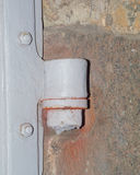 Hinge door gate on the gate Royalty Free Stock Image