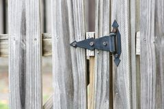 Hinge on Fence Royalty Free Stock Photo