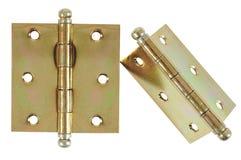 Hinge. isolated. Golden hinge isolated over white background royalty free stock image