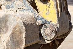 Hinge mechanism of a bucket the excavator Stock Photos