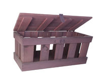 Hinged Crate Royalty Free Stock Photography