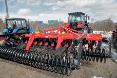 Hinged equipment for tractor. Tyumen. Russia Royalty Free Stock Photo