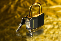 Hinged lock Royalty Free Stock Photos