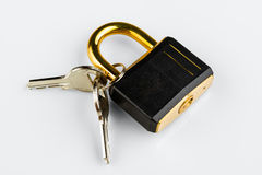 Hinged lock Royalty Free Stock Images