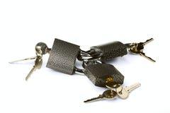 Hinged locks Royalty Free Stock Image