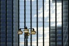 Hinged windows with lantern Royalty Free Stock Image